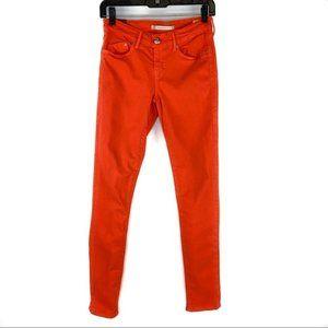 Dylan George Runaway Midrise Skinny Jeans Orange